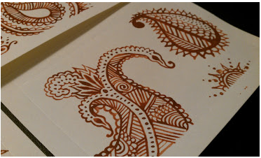 Watercolor Painted Lines on Cards